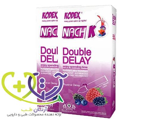 عکس کاندوم تاخیری ناچ کدکس مدل double delay دوبل 12 عددی